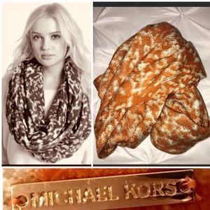 Michael Kors Orange Rochelle Infinity Scarf 🧣